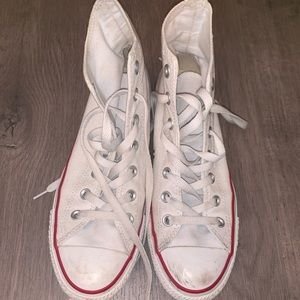 Red white & blue converse hightop sneakers